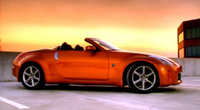 Orange Nissan 350z Roadster Desktop Wallpaper 2016