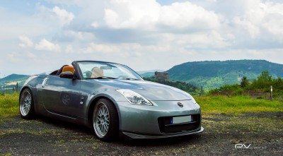 Nissan 350z silver Roadster Wallpapers Full HD landscape nature