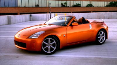 Pictures of Nissan 350z orange Roadster for Desktop