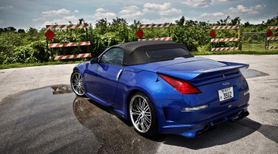 Blue Nissan 350z Roadster Wallpaper 2016 rear bumper