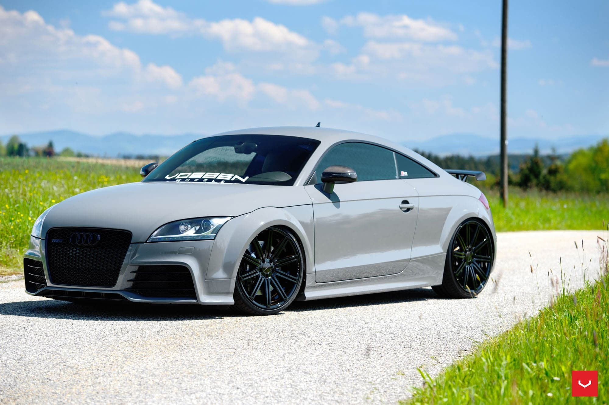 audi tt rs tuning wallpapers hd sport vossen wheels. Black Bedroom Furniture Sets. Home Design Ideas