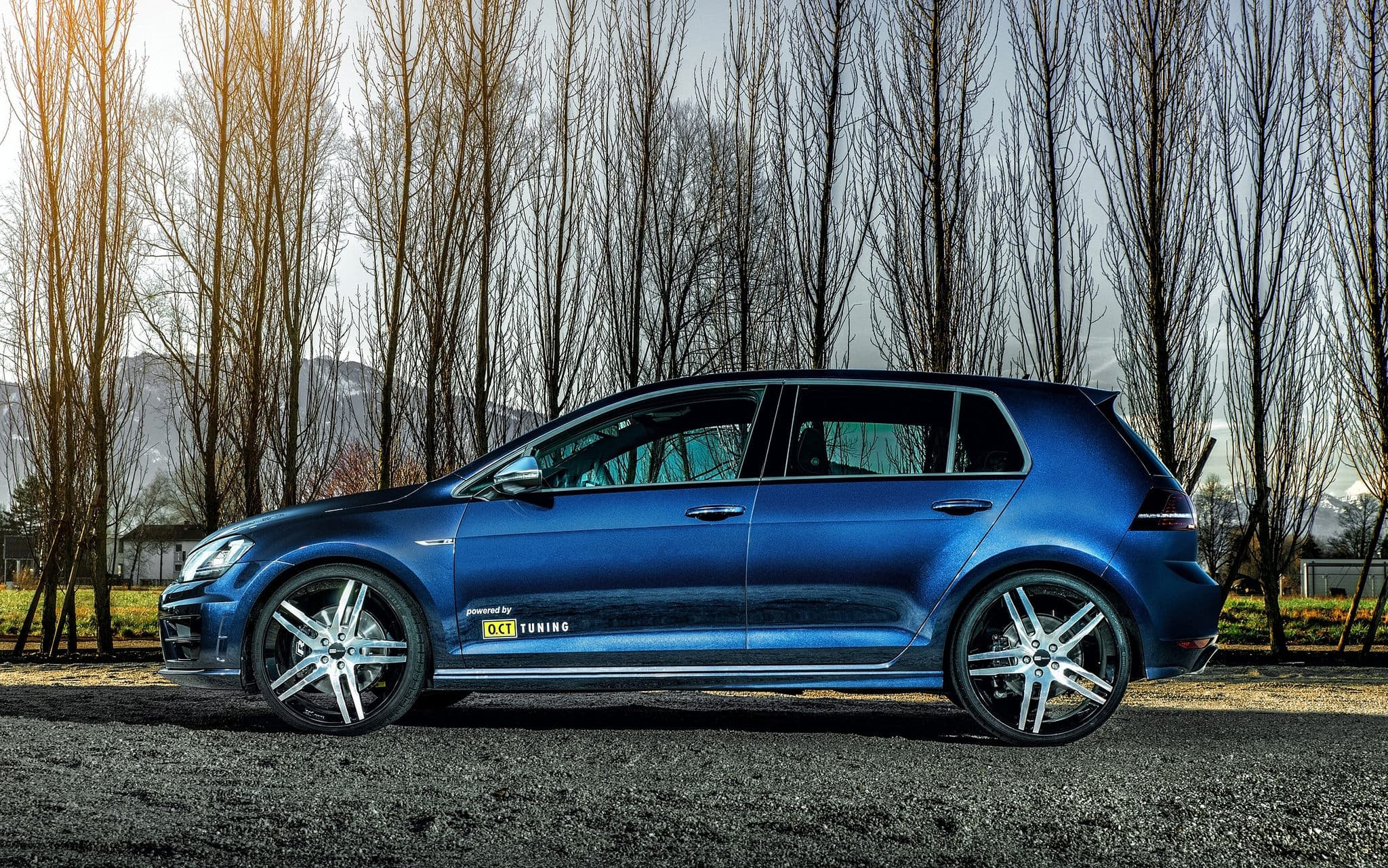 2016 volkswagen golf 7 r wallpapers tuning blue. Black Bedroom Furniture Sets. Home Design Ideas
