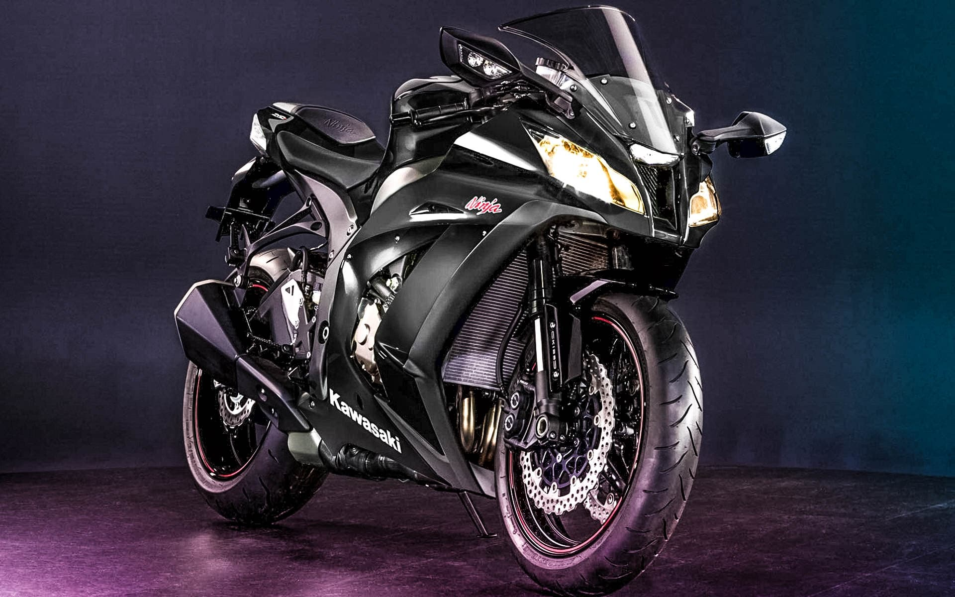 Kawasaki Ninja 250r Black Wallpapers Widescreen HD