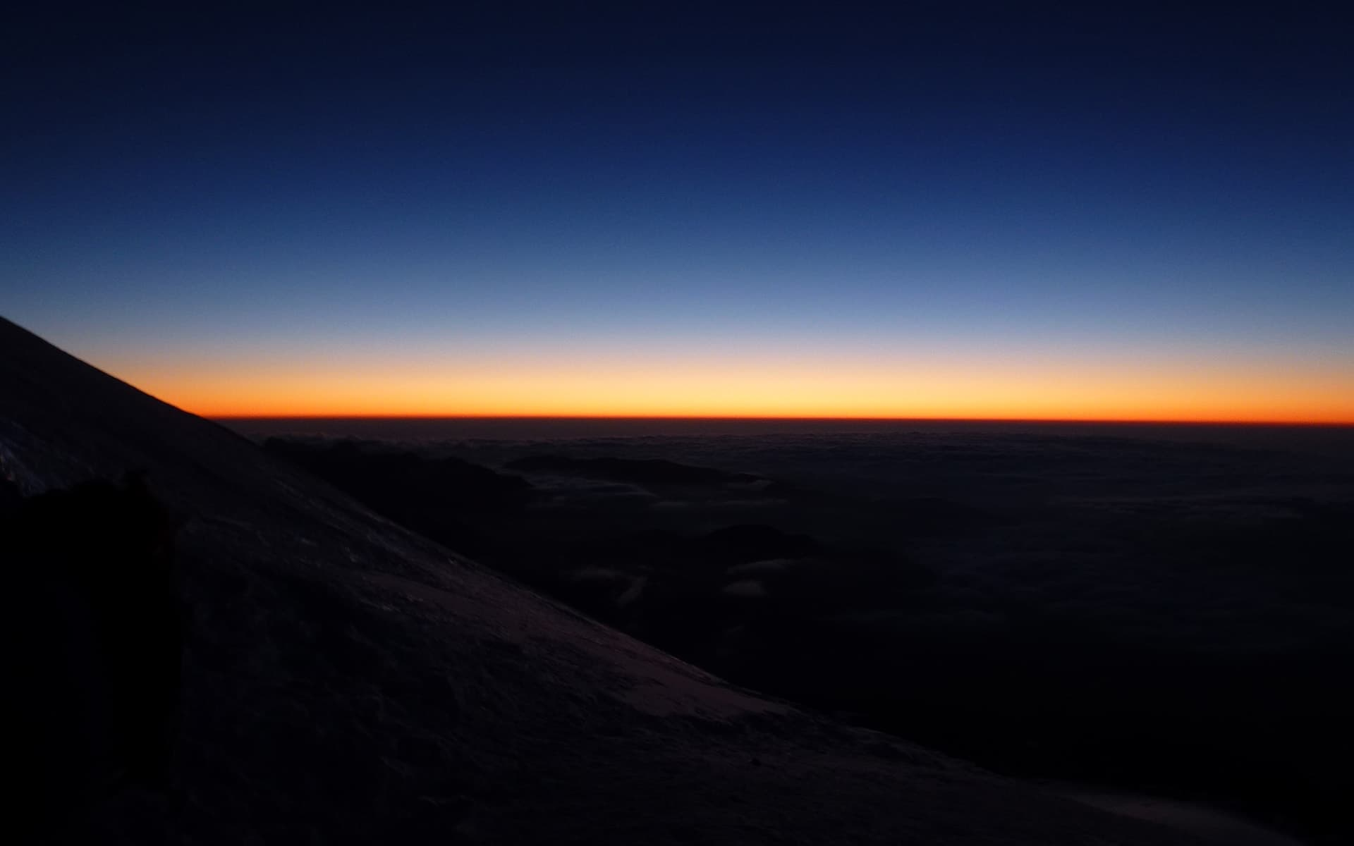 Mount Elbrus on the top, sunset