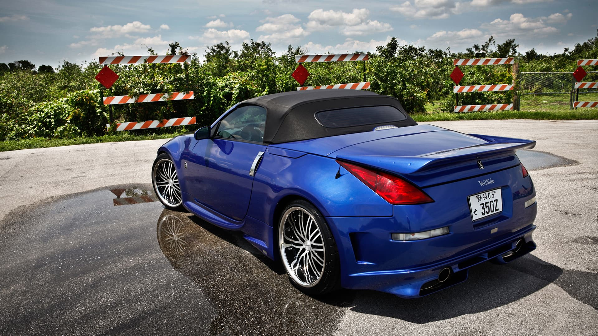 nissan 350z roadster wallpapers hd convertible blue silver black. Black Bedroom Furniture Sets. Home Design Ideas