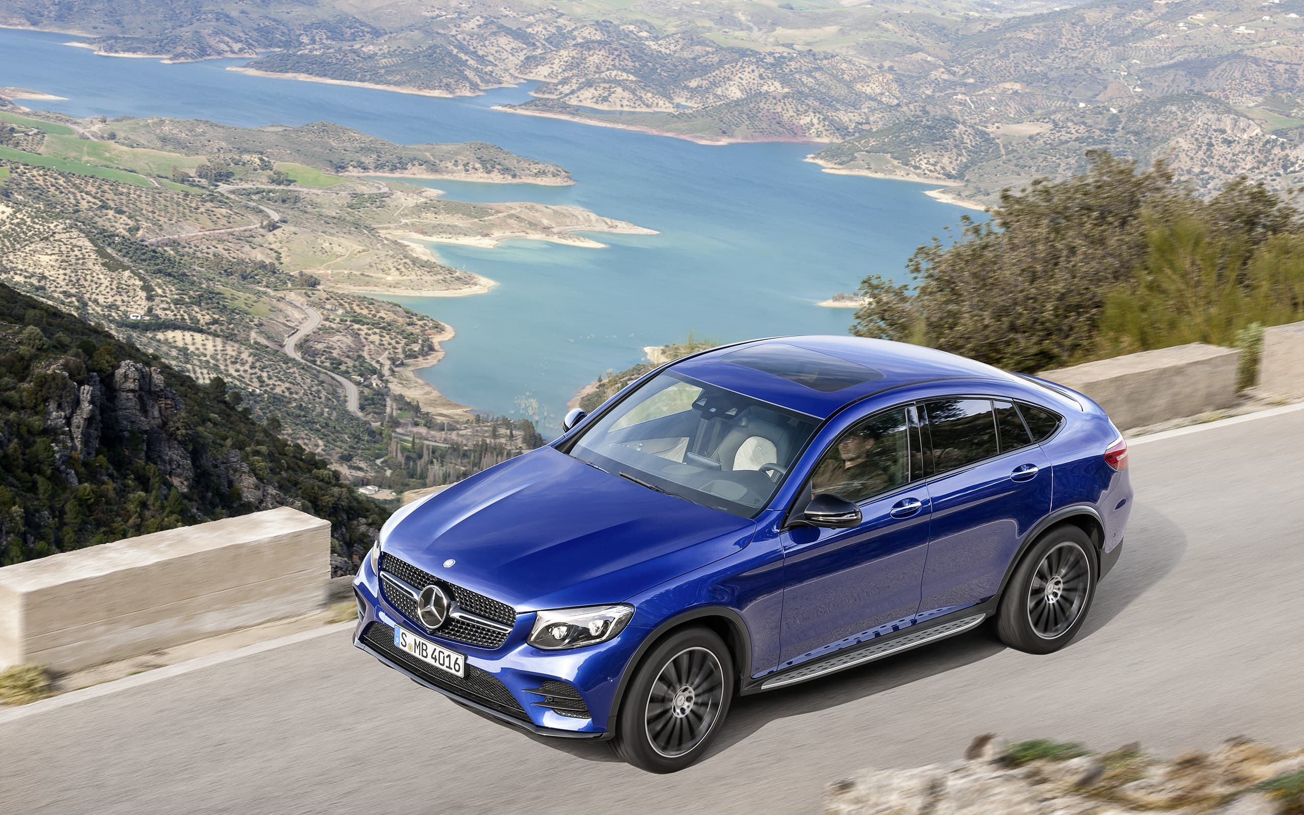 Pictures of 2016 Mercedes-Benz GLC Coupe blue for Desktop