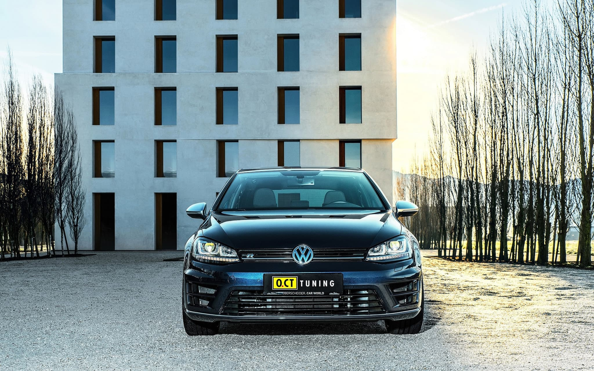 Tuning Volkswagen Golf 7 R 2016 O.C.T Background HD