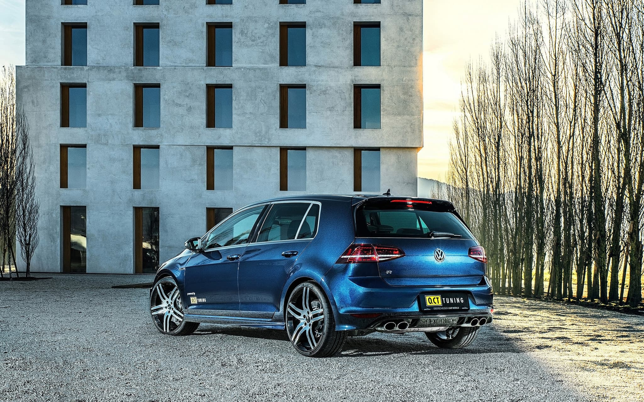 Volkswagen Golf 7 R 2016 Rear Wallpaper High Quality Hd