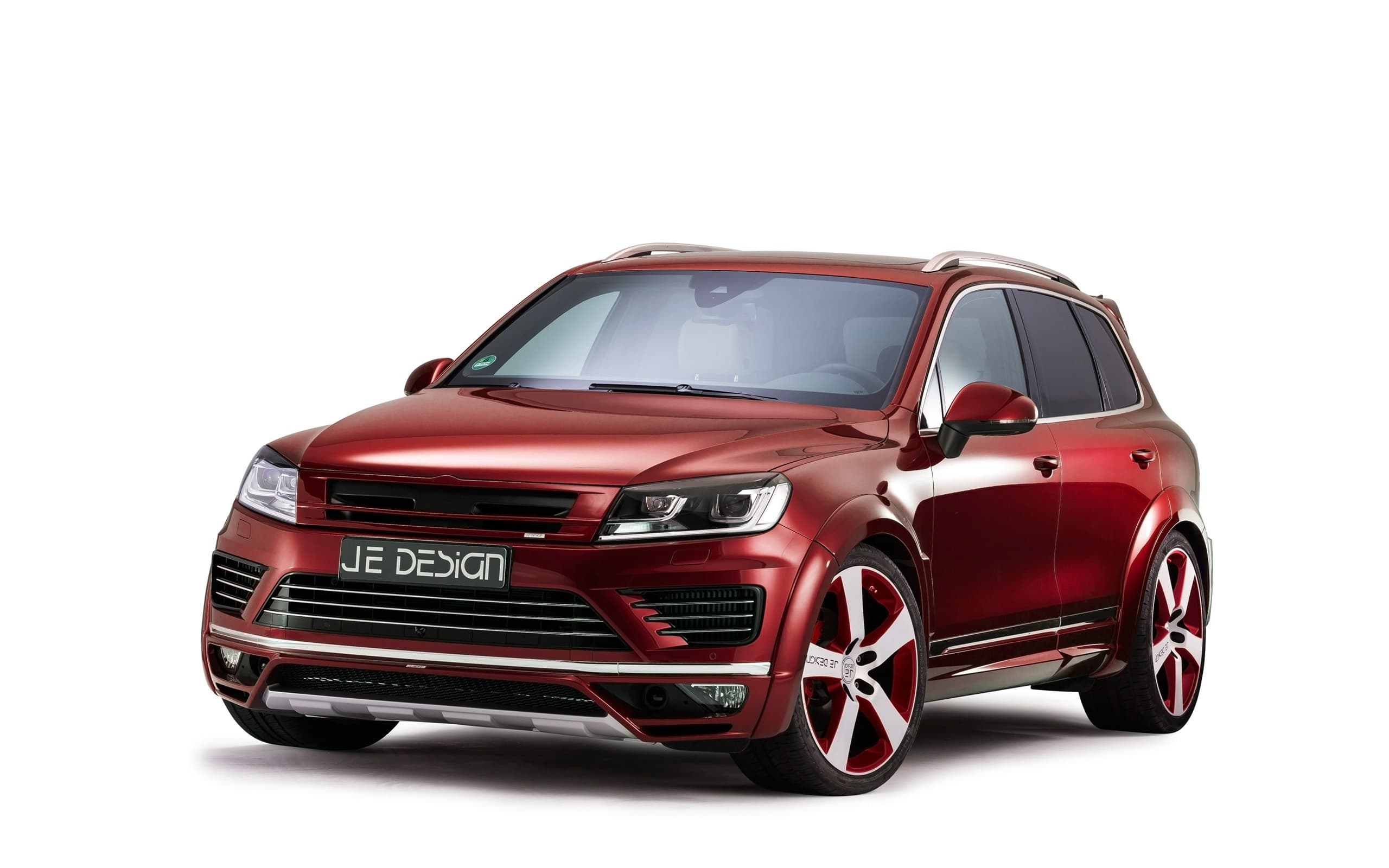 Volkswagen Touareg 2017 R Line Wallpapers HD red, wheels
