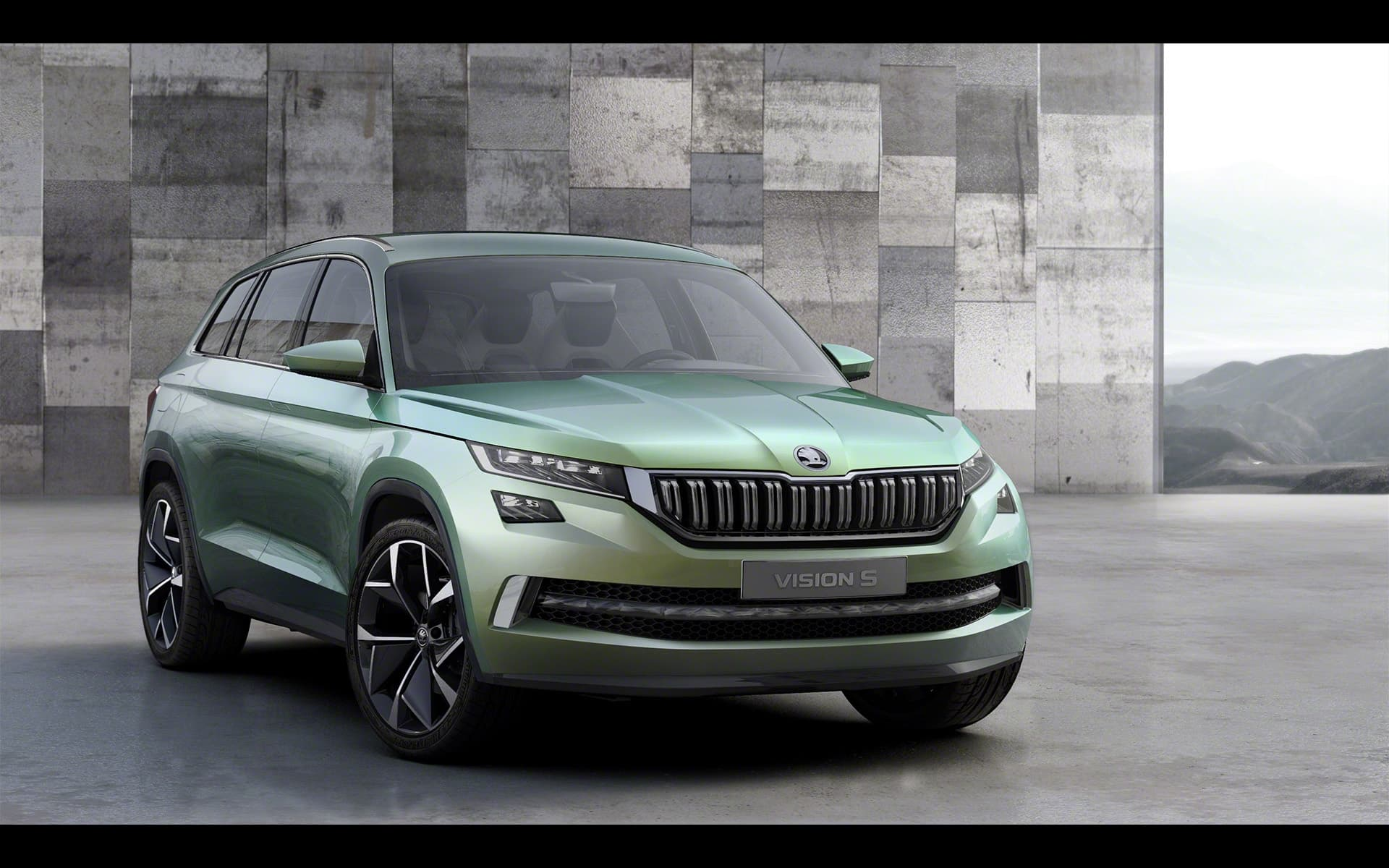 Wallpaper Skoda Vision S 2016 Green Concept SUV Widescreen