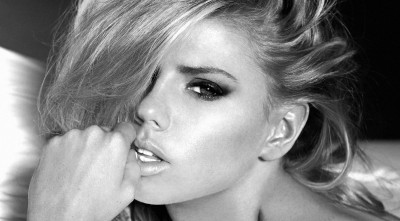 Charlotte Mckinney Bw Desktop Background