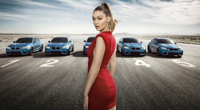 Gigi Hadid BMW M2 Coupe background