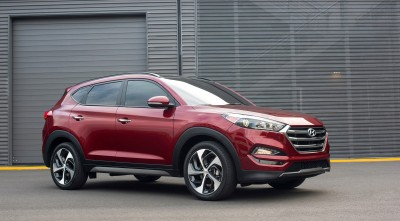 HD wallpaper of Hyundai Tucson 2016 Red High Resolution