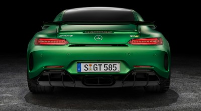 Mercedes AMG GT R 2017 Background Rear Bumper