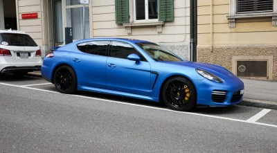 Porsche Panamera Turbo S 2017 Blue Photo HD