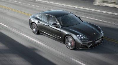HD wallpaper of Porsche Panamera Turbo S 2017 Dark Gray High Resolution