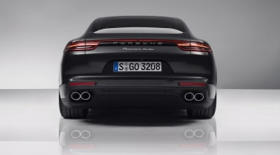 Wallpaper HD Porsche Panamera Turbo S 2017 Rear Spoiler for desktop