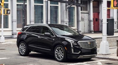 Black Cadillac XT5 2017 wallpapers