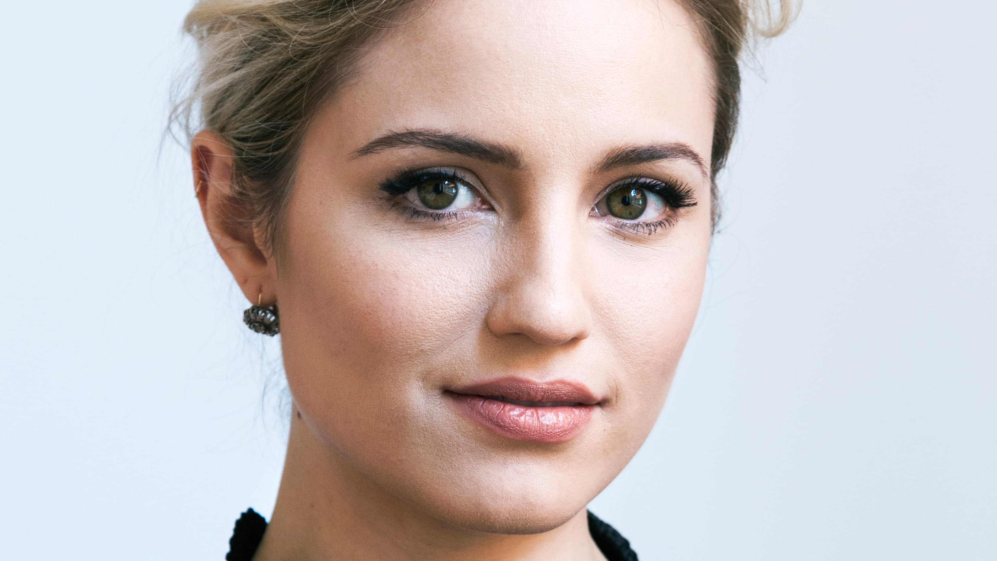 HD wallpaper of Dianna Agron Lips High Resolution