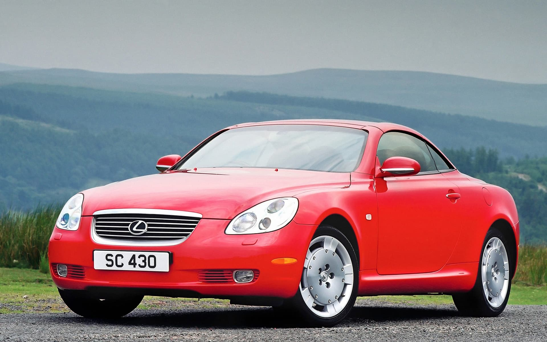 Lexus SC430 2001 red High Quality wallpaper