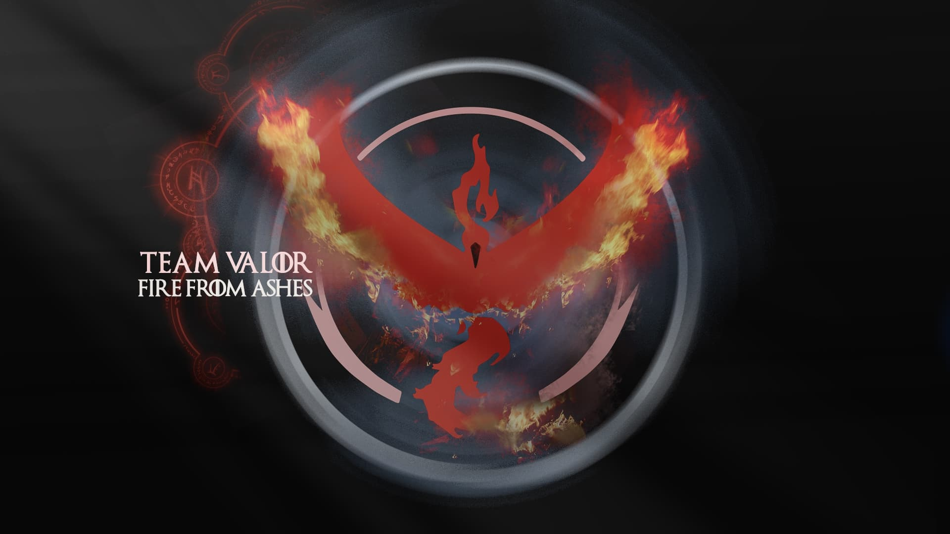 pictures of Pokemon GO Team Valor Ashes full HD