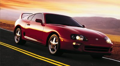 red Toyota Supra 1997 Twin Turbo desktop Wallpaper