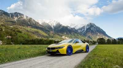 pictures of BMW i8 2016 landscape full HD