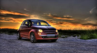 Fiat 500 2009 sunset High Quality wallpaper