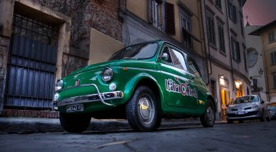 Fiat 500 old green computer wallpaper