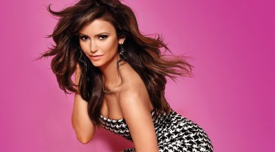 Nina Dobrev pink background HQ wallpaper