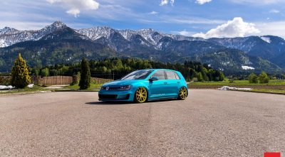 Volkswagen Golf GTI MK7 2016 mountains, road