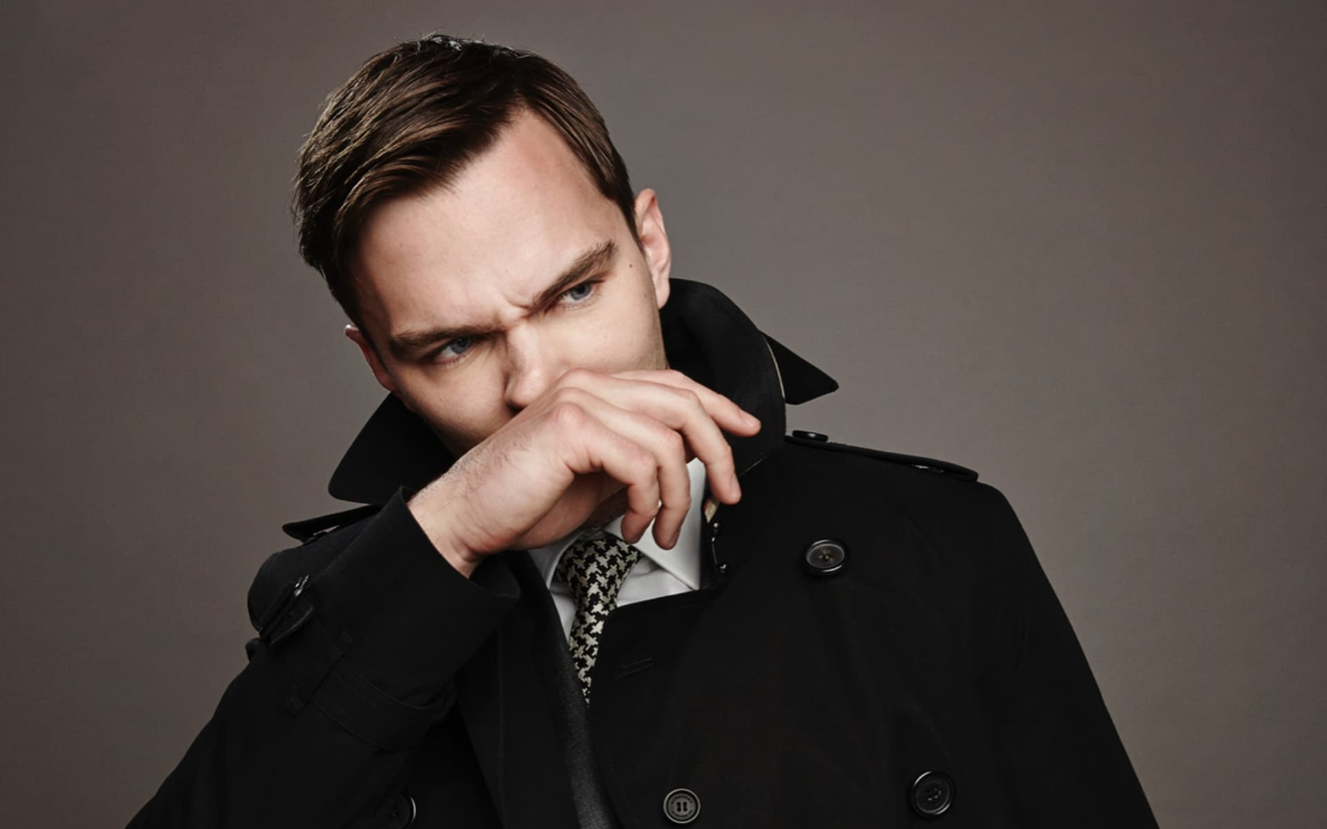 angry Nicholas Hoult background