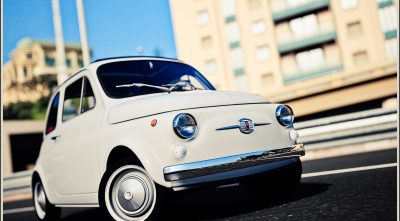 HD white Fiat 500 old Desktop Background