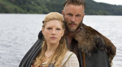 Vikings - Katheryn Winnick As Lagertha with Ragnar Lothbrok Wallpapers HD