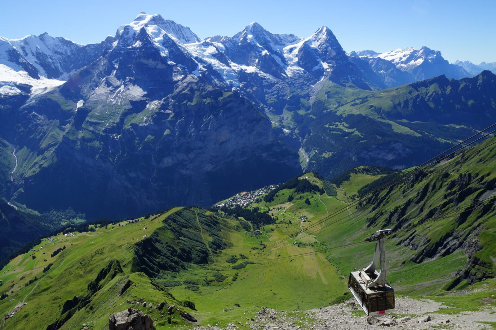 Switzerland, Bernese Alps - Mountain Schilthorn, cable car