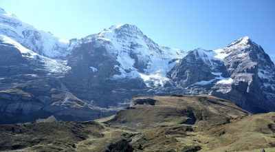 Switzerland - Mountain Jungfrau, winter, snowy peak