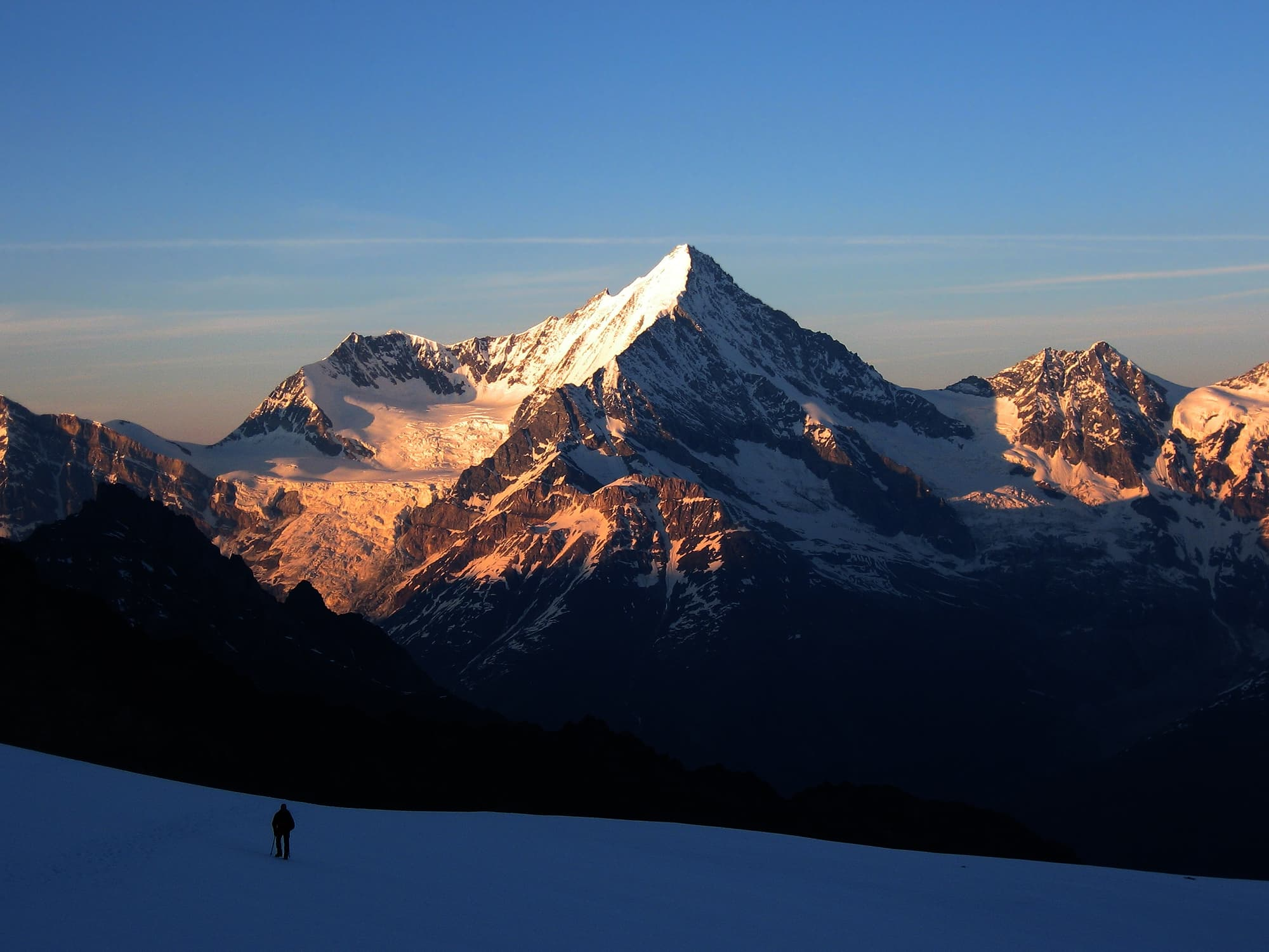 Switzerland, - mountain Weisshorn wallpaper