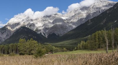 Germany - Mountain Zugspitze, autumn field