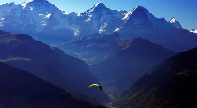 parachute, mountain Eiger