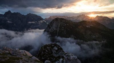 Mountain - Triglav beautiful view at sunset