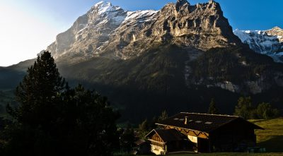 sun rays, mountain Eiger