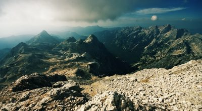 Mountain - Triglav, sun rays