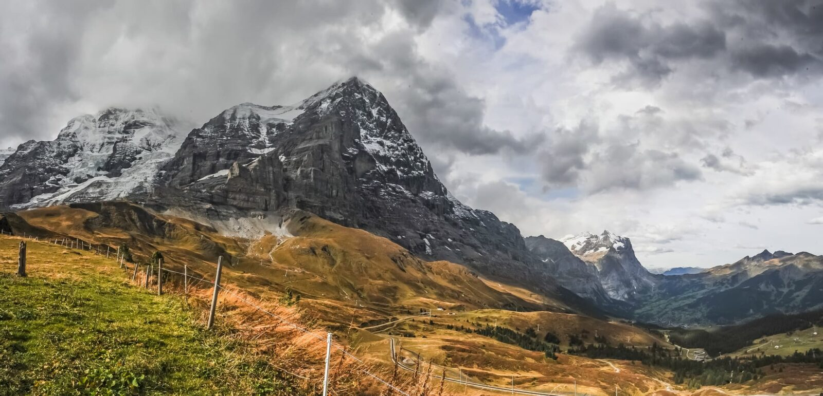 clouds, mountain Eiger