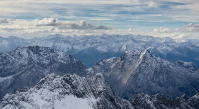 Germany - Mountain Zugspitze view from the peak