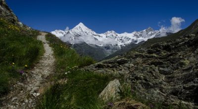 Switzerland, - mountain Weisshorn road to up