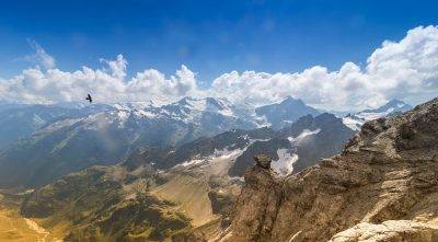 Mountain Titlis, clouds