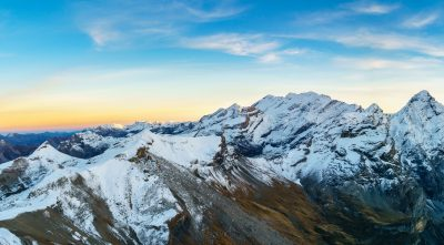 Switzerland, Bernese Alps - Mountain Schilthorn beautiful sky