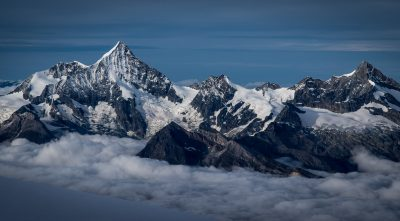 Switzerland, - mountain Weisshorn snowy peaks