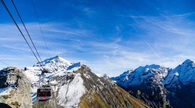 Switzerland, Bernese Alps - Mountain Schilthorn, thrill walk