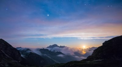 Mountain - Triglav sunset